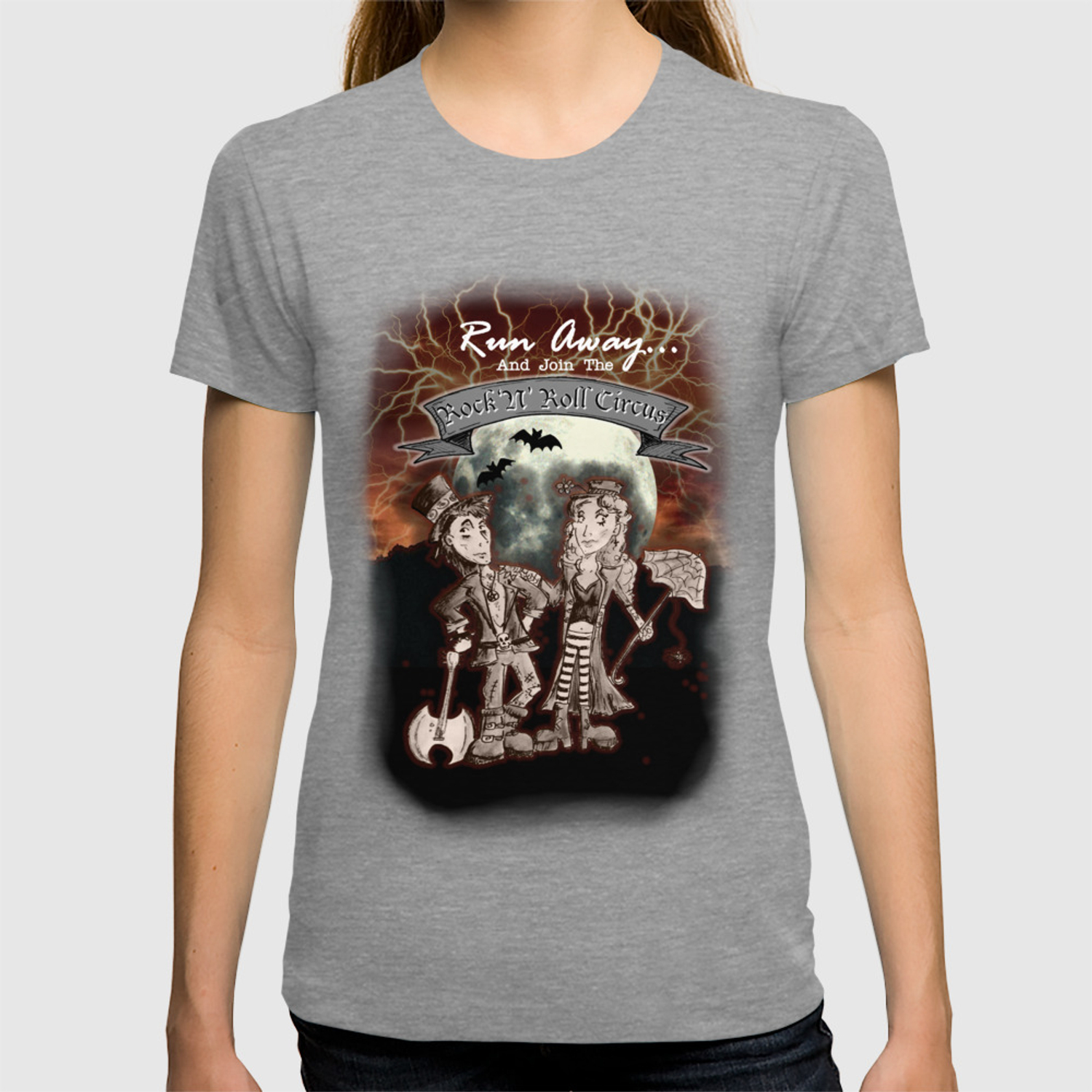 aa142011 Rock 'N' Roll Circus T-shirt by melissamorrison | Society6