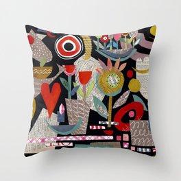 'night garden ...' Throw Pillow