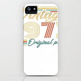"camiseta vintage con texto en inglés """" made in 1972 heart 47th birthday"""" iPhone Case"