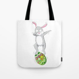 Dabbing Easter Bunny Tote Bag