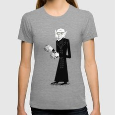 The Halloween Series - Nosferatu Tri-Grey Womens Fitted Tee LARGE