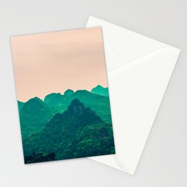 Magical Surreal Mountainous Landscape Stationery Cards
