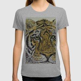 Green Eyed Tiger Animal Art T-shirt