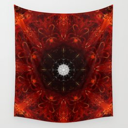 Festive Window Mandala Abstract Design Wall Tapestry