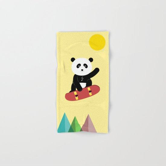Panda on a skateboard Hand & Bath Towel