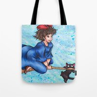 kiki Tote Bags featuring Kiki by Kimberly Castello
