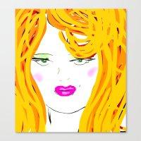 blondie Canvas Prints featuring Blondie by Tina Vaughn