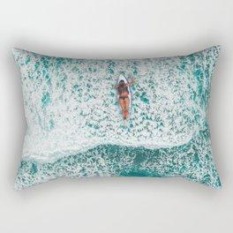 Girl Surfing Rectangular Pillow