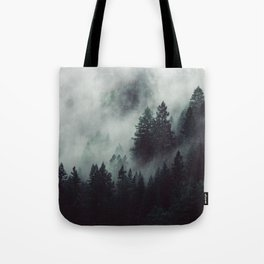 Rain in the forest Tote Bag