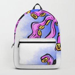 Octopus Cartoon Purple Tentacle Backpack