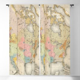 vintage map of american indians Blackout Curtain