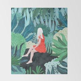Forest Gaze Throw Blanket
