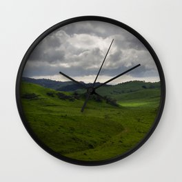 Between the Hills Wall Clock