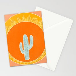 Cactus and the sun Stationery Cards