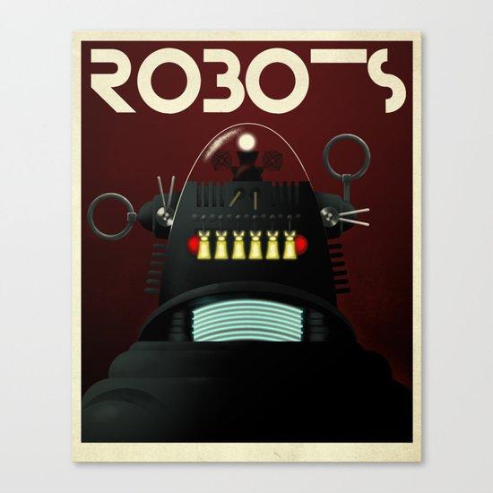 Robots - Robby Canvas Print
