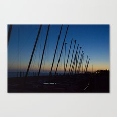 Boats in The Night Canvas Print