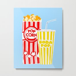 Ppp Corn and Soda Pop Metal Print