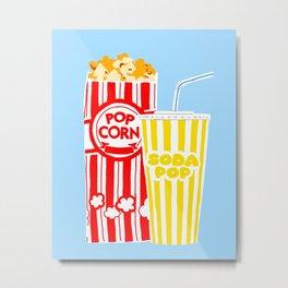 Pop Corn and Soda Pop Metal Print