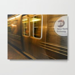 New York City subway Metal Print