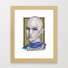 Liz Taylor by Nickdrawart Framed Art Print