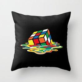 Sheldon Cooper - Melting Rubik's Cube Throw Pillow