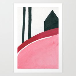 Red and black #2 Art Print