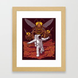 Killer bees on Mars. Framed Art Print