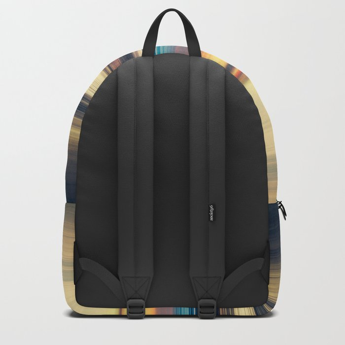 Along Memory Lines - Abstract Seascape Backpack