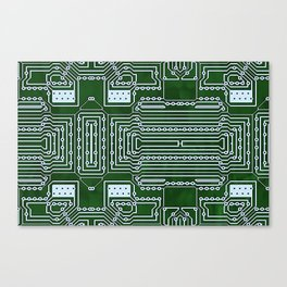 Computer Geek Circuit Board Pattern Canvas Print