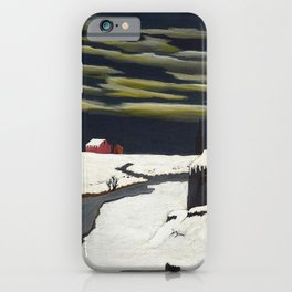 African American Masterpiece 'The Getaway' by Horace Pippin iPhone Case