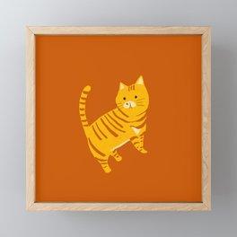 Orange Tabby Cat Framed Mini Art Print