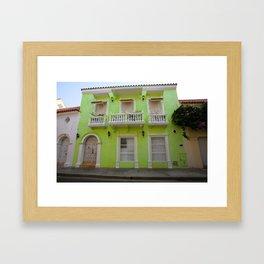 Cartegena Walled City Green Home Framed Art Print