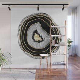 Moon Stone Agate Gold Foil Glam #2 #gem #decor #art #society6 Wall Mural