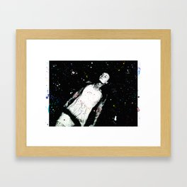 Keep the cosmos close Framed Art Print
