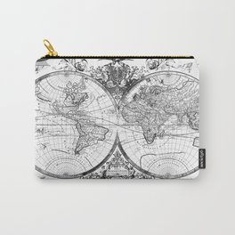 world map old vintage Carry-All Pouch