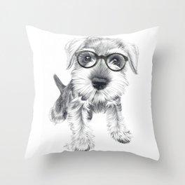 Nerdy Schnozz Throw Pillow