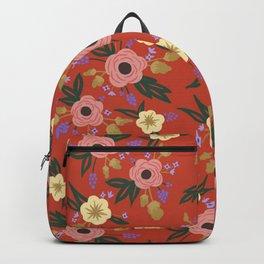 Vermillion Floral Backpack