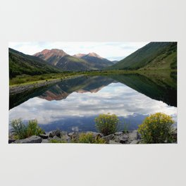Crystal Lake on the Million Dollar Highway, elevation 9,611 feet Rug