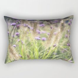 Wild ears and purple wild flowers Rectangular Pillow