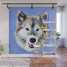 A Wolf Hybrid Wall Mural