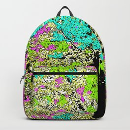 TREES PINK AND GREEN ABSTRACT Backpack