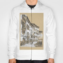 Piazza dell Anfiteatro, Lucca, Italy Hoody