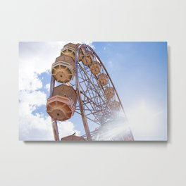 Round and Round in Ekka Metal Print