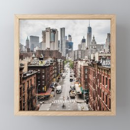 USA Photography - Chinatown In New York City Framed Mini Art Print