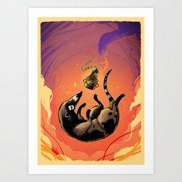 Somnambulent Coati Art Print