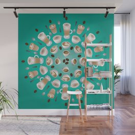 Coffee Kaleidoscope Wall Mural