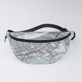 Riverside, CA, USA, White, City, Map Fanny Pack
