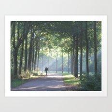 Sunday morning in Beatrixpark Art Print
