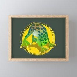 Yoga Downward Facing Frog Framed Mini Art Print