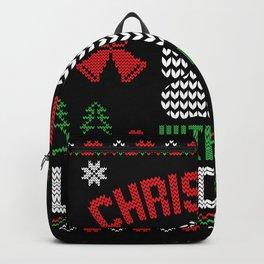 Christmas Ugly Christmas Dog Paw Backpack